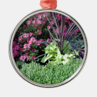 Flower Garden Silver-Colored Round Decoration