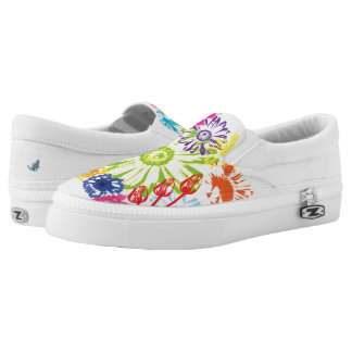 Flower Garden slip on shoes Printed Shoes