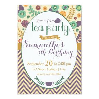 Flower Garden Tea Party Invitation