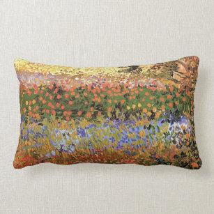 Flower Garden,Vincent Van Gogh. Lumbar Cushion
