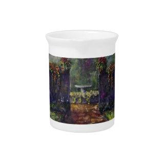Flower garden wall beverage pitchers