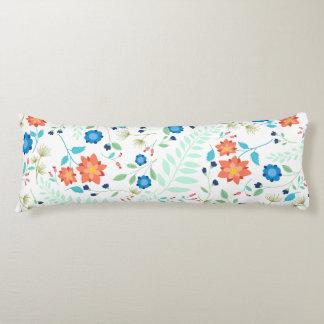 """""""Flower Garden"""" White Body Pillow"""