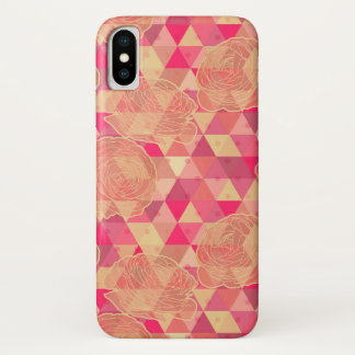 Flower geometrical pattern iPhone x case