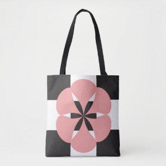 Flower geometry tote bag