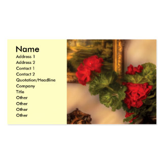 Flower - Geraniums on a table Business Card