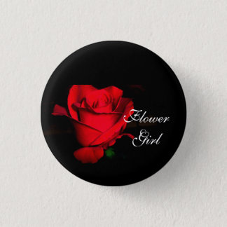 Flower Girl 3 Cm Round Badge