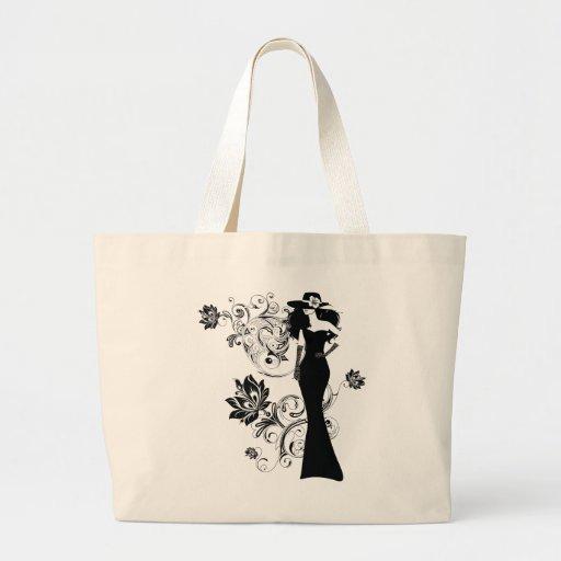 Flower girl canvas bag