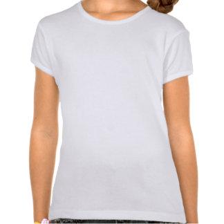 Flower Girl Black on White T-shirt