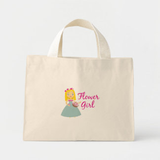 Flower Girl Blonde Mini Tote Bag