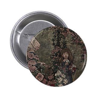 Flower Girl Briar Rose Princess Fairy Tale Garden 6 Cm Round Badge