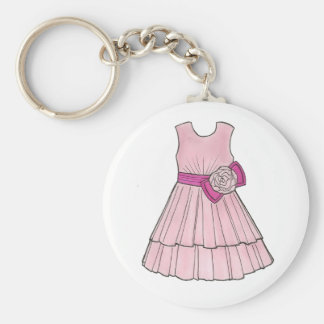 Flower Girl Bridal Pink Pageant Dress Keychain