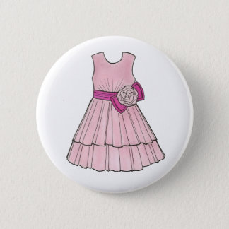 Flower Girl Bridal Pink Pageant Party Dress Button