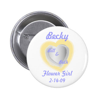 Flower Girl Button-Customize 6 Cm Round Badge