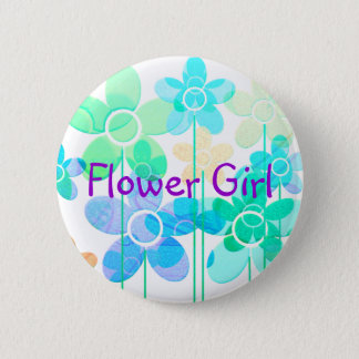 Flower Girl button pin