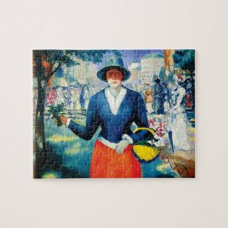 Flower Girl by Kazimir Malevich Jigsaw Puzzle