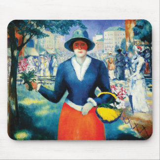 Flower Girl by Kazimir Malevich Mouse Pad