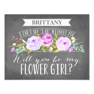 Flower Girl Card | Bridesmaid 11 Cm X 14 Cm Invitation Card