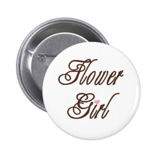 Flower Girl Classy Browns 6 Cm Round Badge