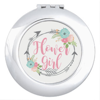 Flower Girl Compact Mirror Wedding Party Favor