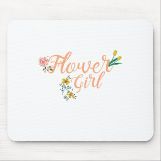 Flower Girl Cute Bridesmaid Mouse Pad