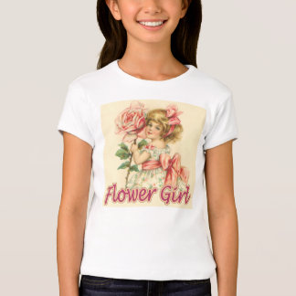 FLOWER GIRL,CUTE VINTAGE T-SHIRTS