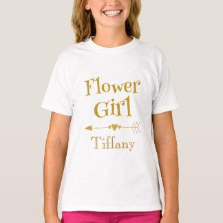 Flower Girl Cuteness Personalize T-Shirt