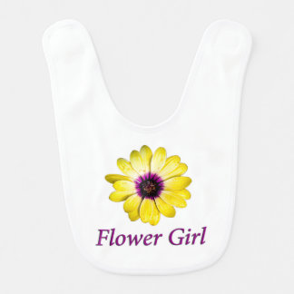 Flower Girl Daisy Wedding Bib