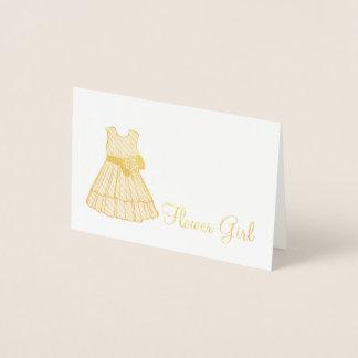 Flower Girl Dress Wedding Bridal Party Gift Foil Card