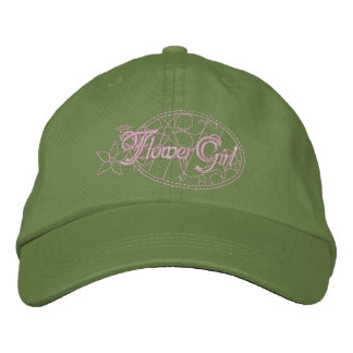 Flower Girl Embroidered Hat