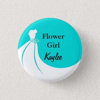 Flower Girl Flair 3 Cm Round Badge