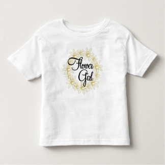 Flower Girl Floral Circle Toddler T-Shirt