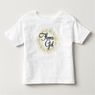 Flower Girl Floral Circle Tee Shirt