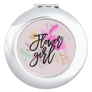Flower Girl Floral Compact Mirror Gift