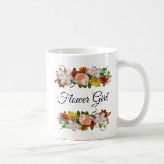 Flower Girl Floral Rose Bouquet Mug