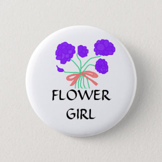 FLOWER GIRL - flowers button