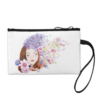 Flower Girl Gift Cosmetic Bag Girl With Flowers