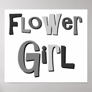 Flower Girl Gray Poster