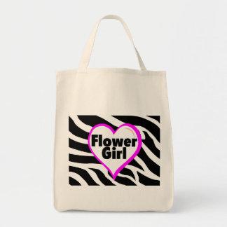 Flower Girl Heart Zebra Stripes Bags