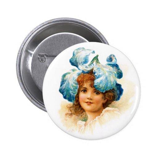 Flower Girl in Blue Pins