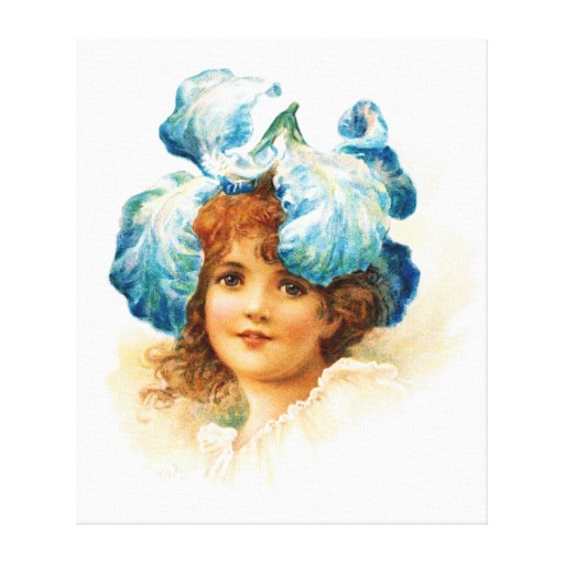 Flower Girl in Blue Canvas Prints