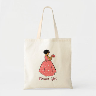 Flower Girl in Coral Canvas Bag