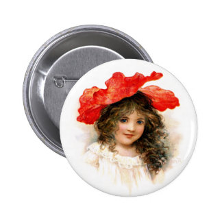 Flower Girl in Red Pin