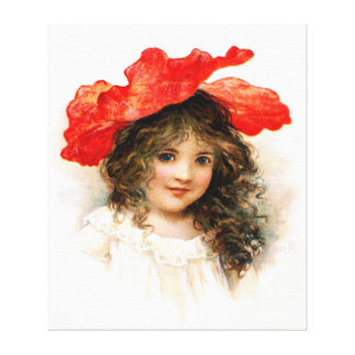 Flower Girl in Red Canvas Prints
