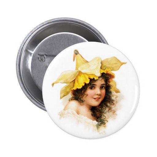 Flower Girl in Yellow Pin