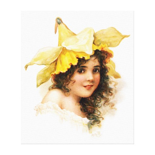 Flower Girl in Yellow Gallery Wrap Canvas