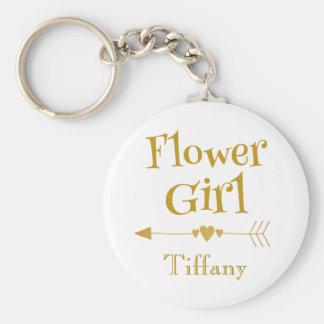 Flower Girl Love Key Ring