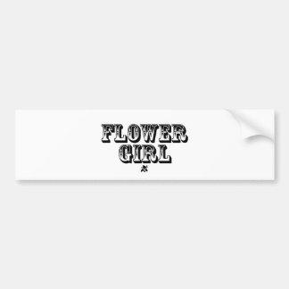 Flower Girl - Old West Bumper Sticker