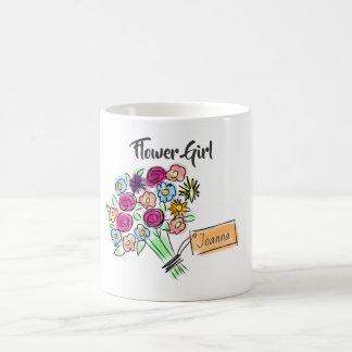 Flower Girl Personalized Flowers Coffee Mug