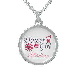 Flower Girl Personalized Necklace