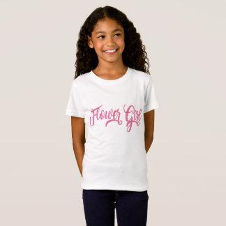 Flower Girl Pink Glitter T-Shirt